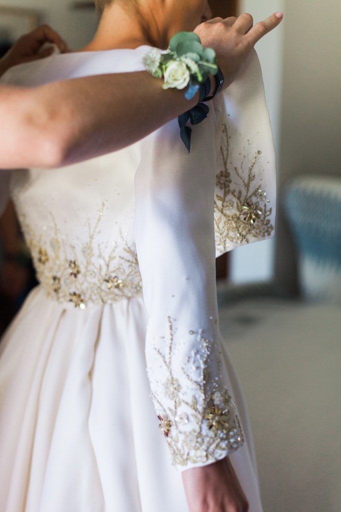 Celestina Agostino wedding dress details