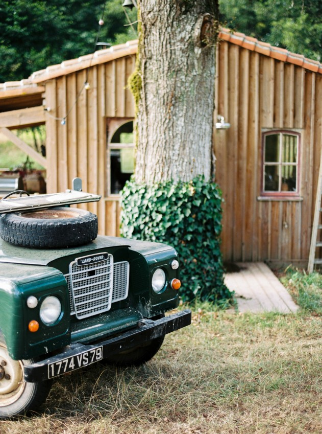 cabin and land rover