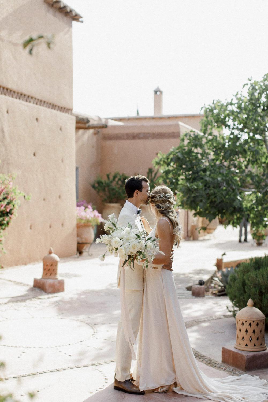 white wedding in Marrakech