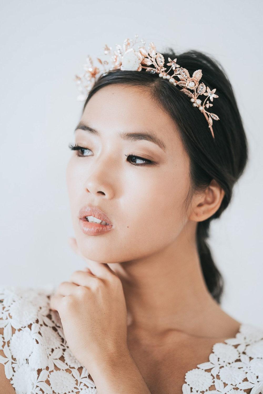 Flower jewelry bridal crown