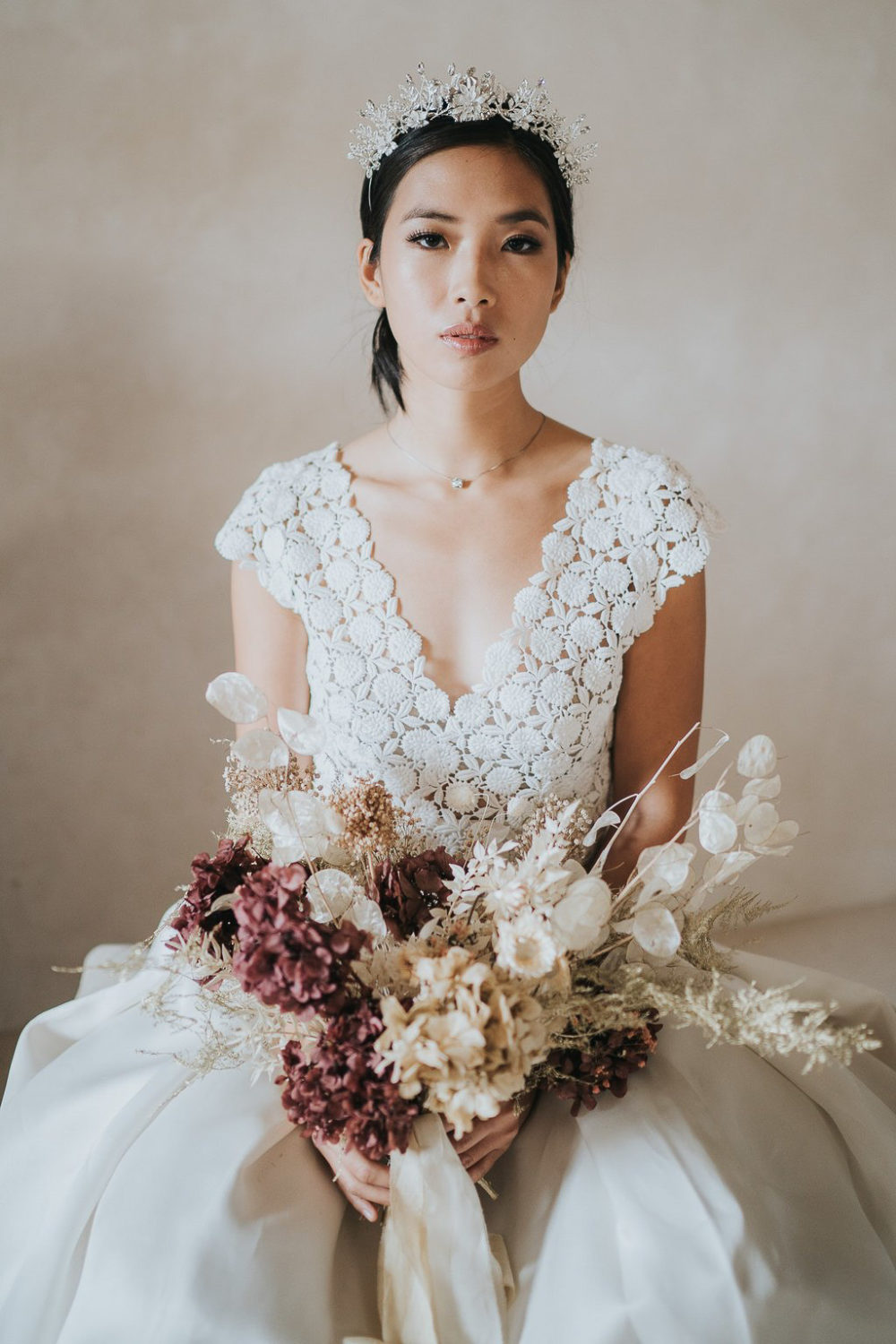 Dried flowers bridal bouquet