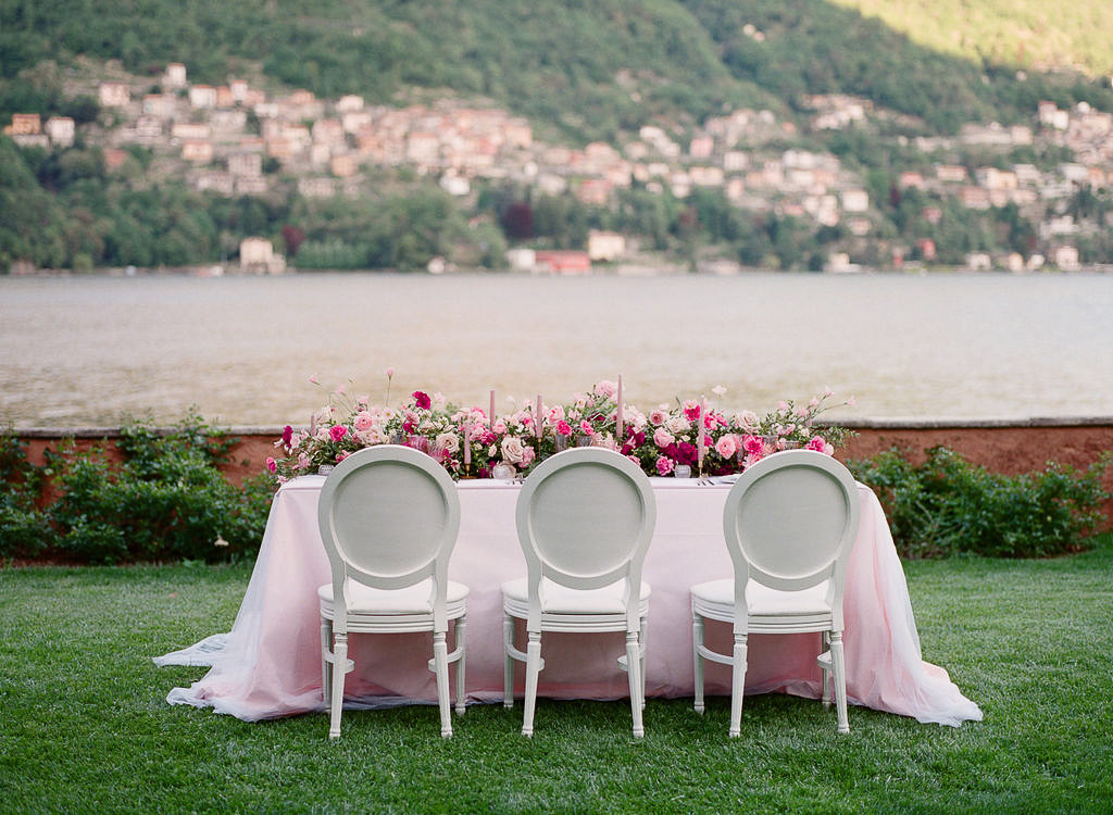 al fresco wedding table lake como