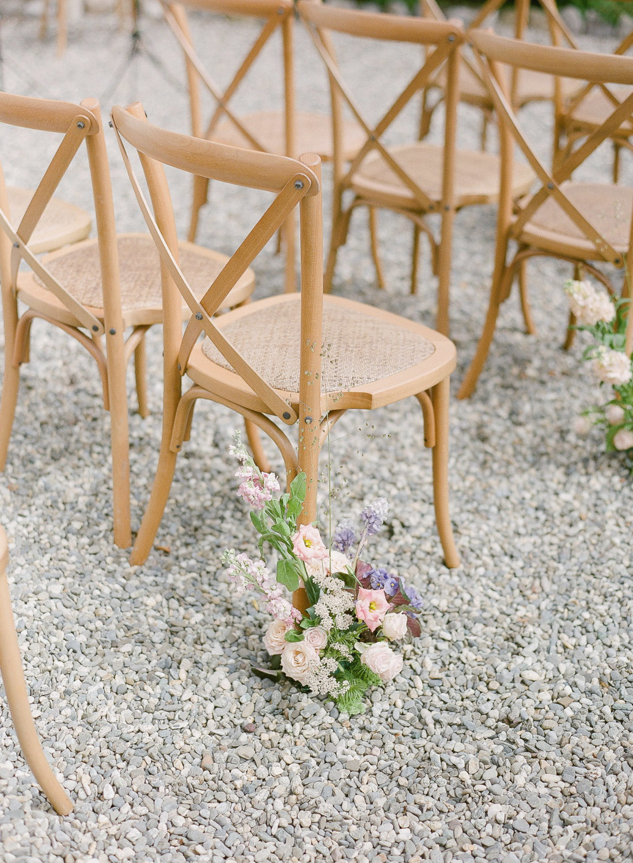 aisle chair floral decor