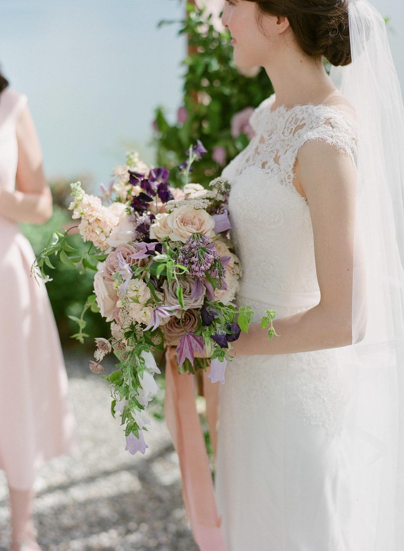 blush and lavender bridal bouquet