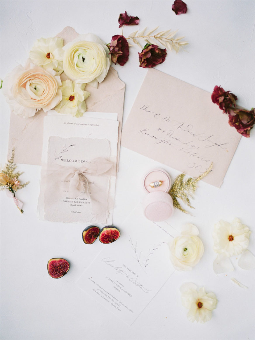 refined wedding stationary