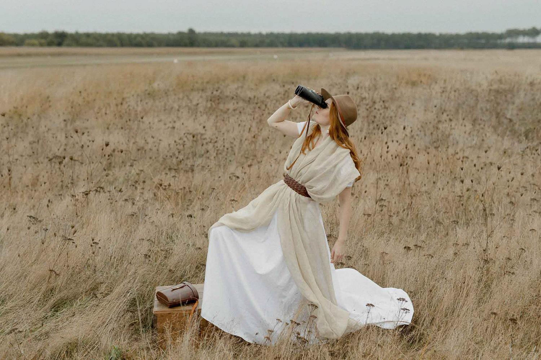 Amelia Earhart inspired Bride