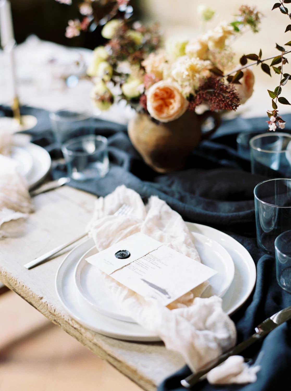 table details, wedding table, modern wedding table, mystical bridal shoot, wedding designer