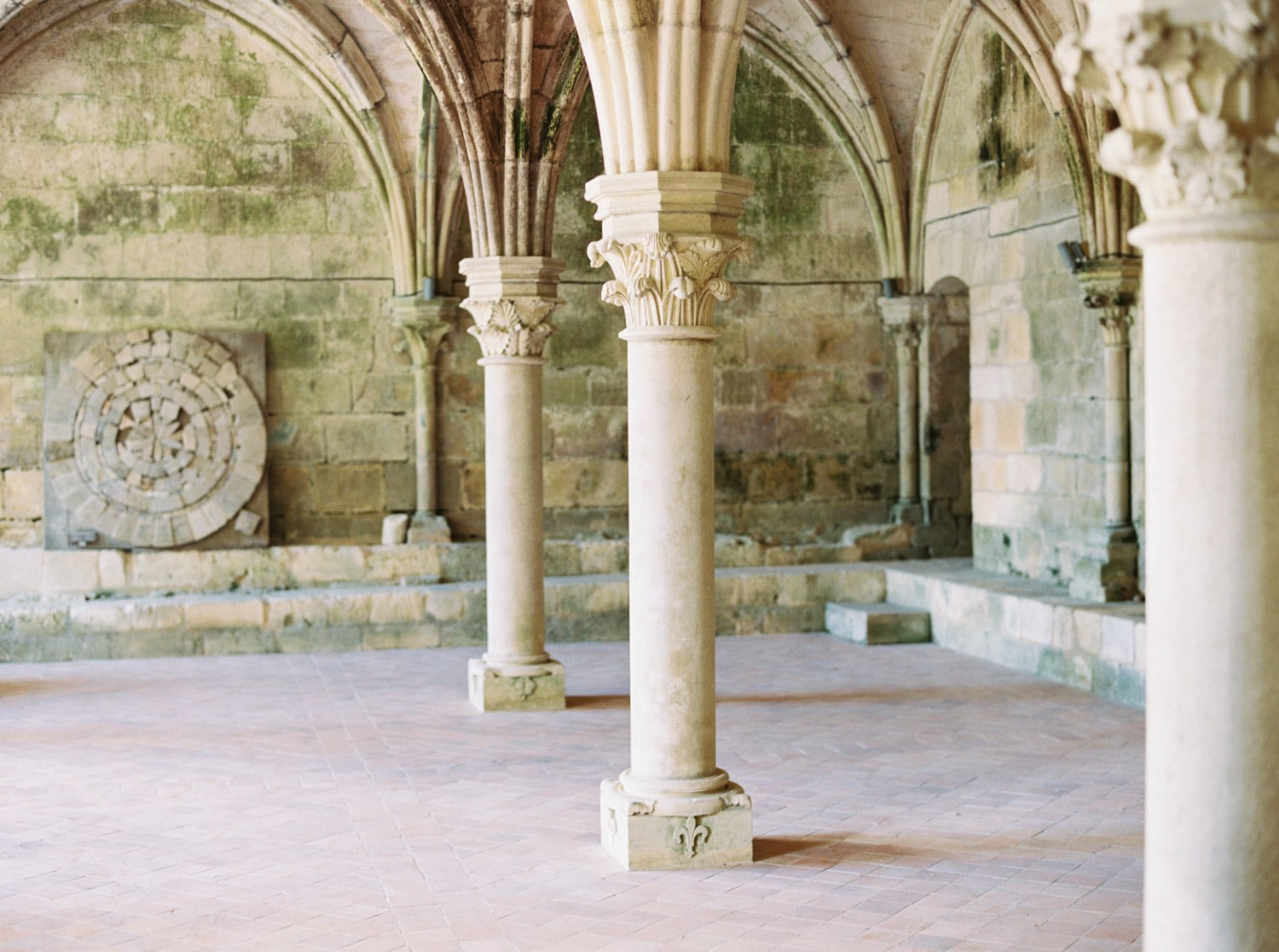 abbaye de Fontdouce, old french abbey, editorial shoot