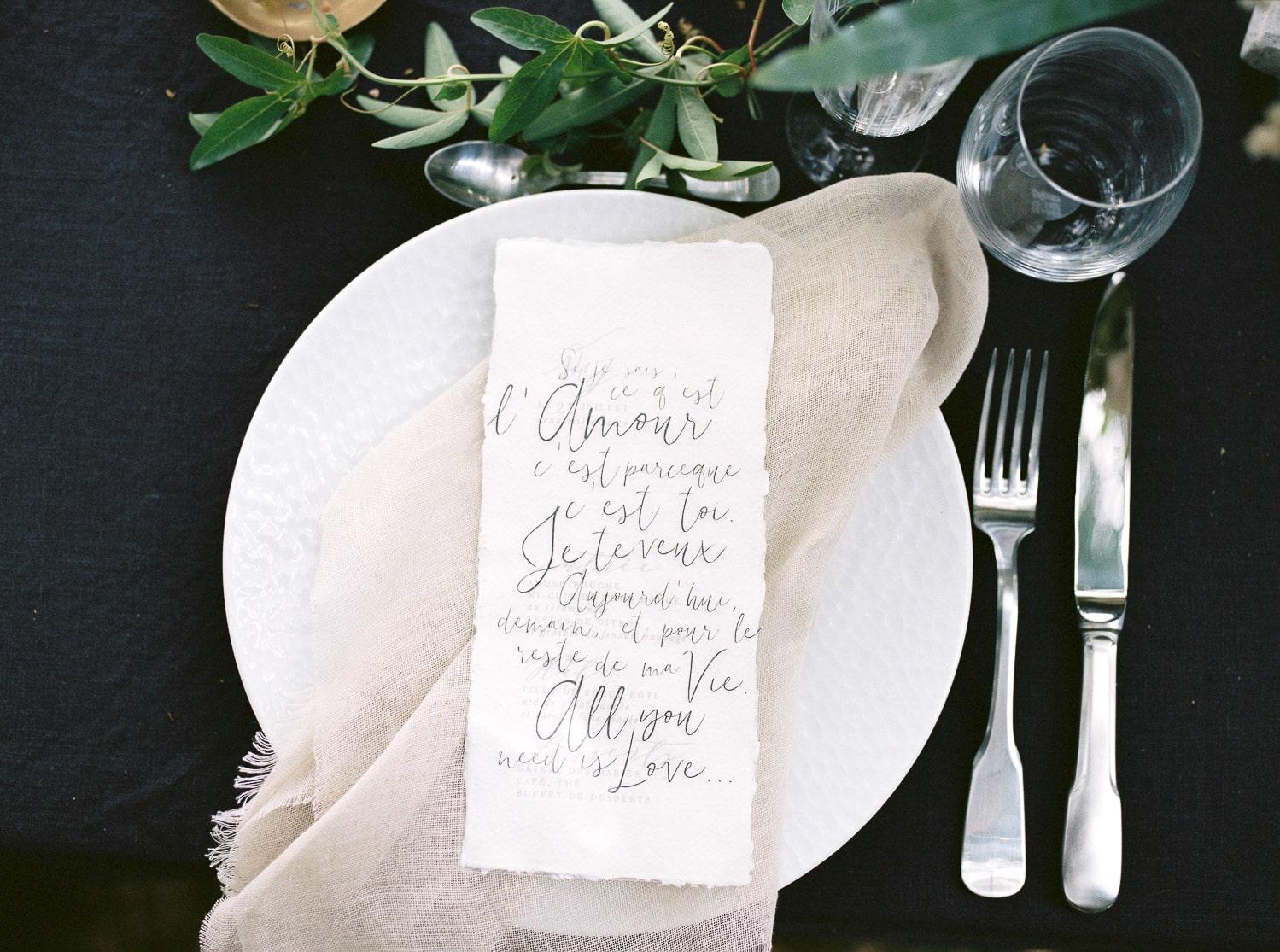 luxury black tie wedding, curated timeless wedding design, destination wedding designer, Loire Valley,