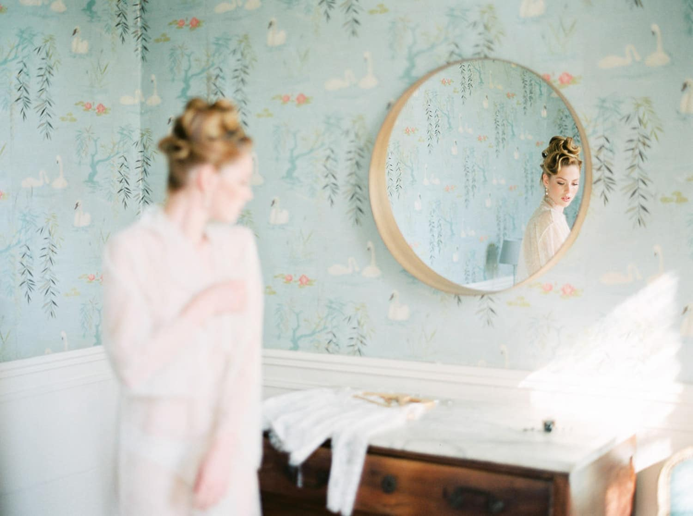 elegant bridal boudoir session, cleophina, bastide de Toursainte, film photography, Veronique Lorre, brand stylist, timeless,